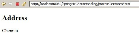 SpringMVC_TextAreaExample_Success