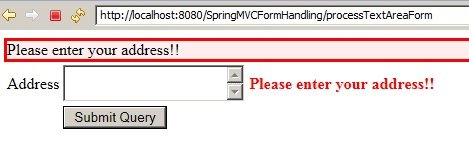 SpringMVC_TextAreaExample_Validation