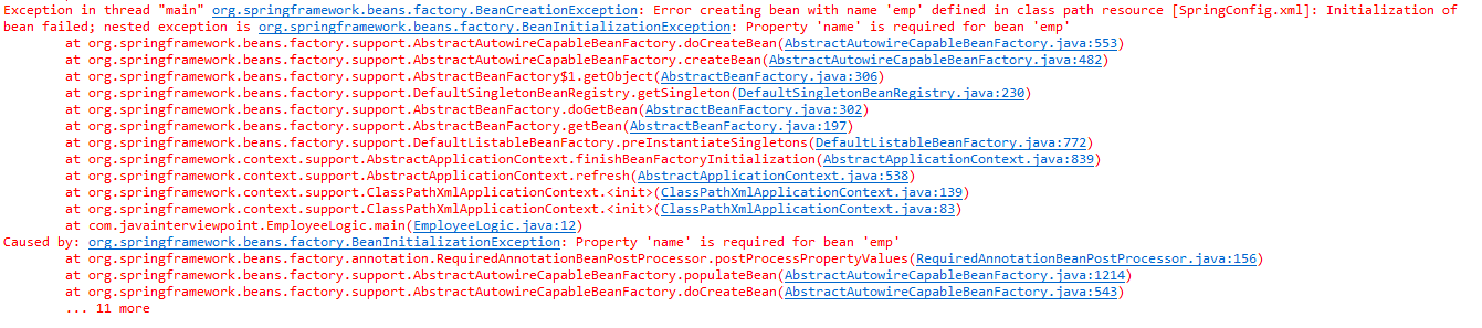BeanInitializationException