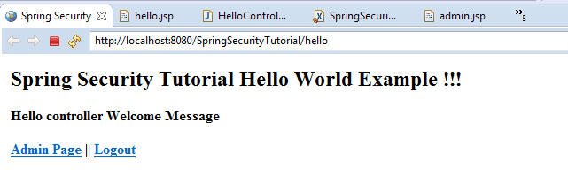 Spring Security Tutorial 1
