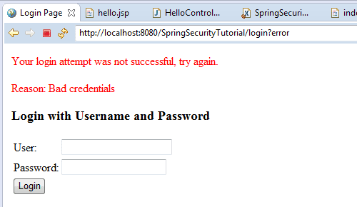 Spring Security Tutorial 3