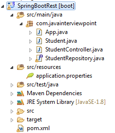 Spring Boot RESTful Web Services Example + Spring Data JPA +