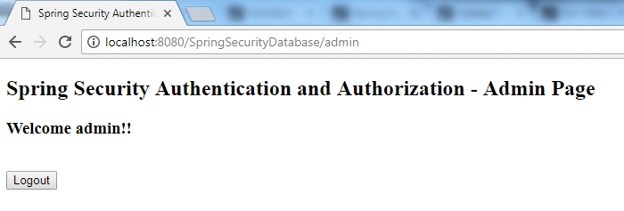 Spring Security Database Authentication Example 5