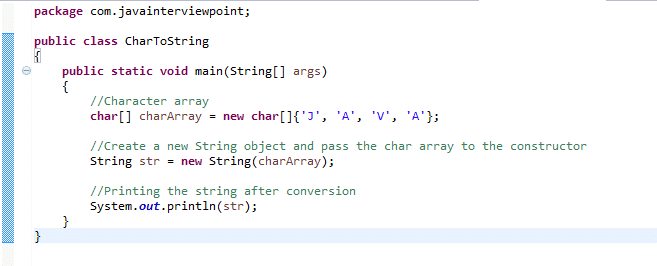 Java char array to string