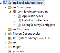 Spring Boot Security Basic Authentication