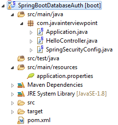 Spring Boot Security Database Authentication Example 2