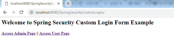 Spring Security Custom Login Form 1