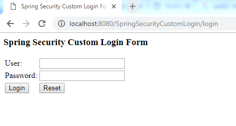 Spring Security Custom Login Form 2