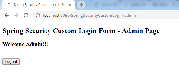 Spring Security Custom Login Form 4