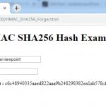 JavaScript HMAC SHA256 Hash Example