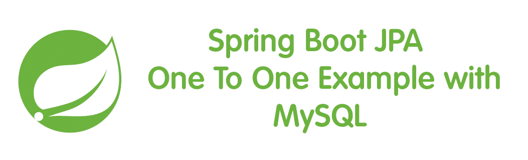 Spring Boot JPA One To One Example